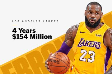LeBron James Signs With Los Angeles Lakers For 4 Years, $154 million