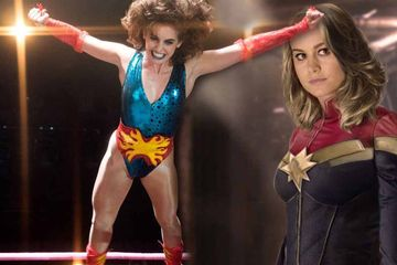 Captain Marvel Meets GLOW in This 'Alison Brie Larson' Training Photo