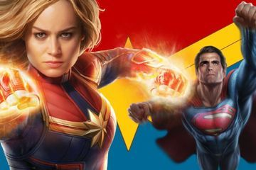 Can Captain Marvel Beat Superman? Brie Larson Thinks She Knows