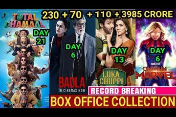 Box Office Collection of Badla ,Total Dhamaal,Luka Chuppi, Captain Marvel,Total Dhamaal Collection